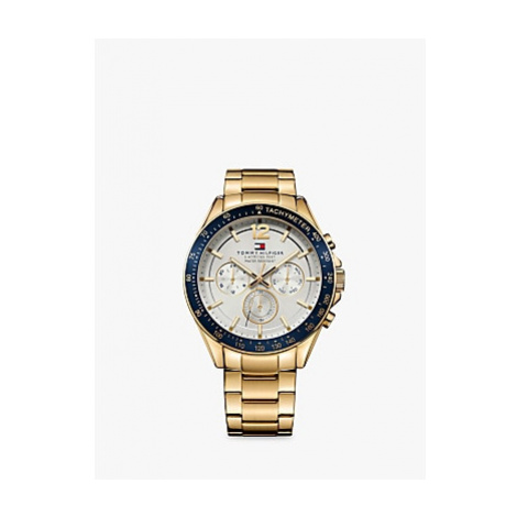 Tommy Hilfiger 1791121 Men's Chronograph Bracelet Strap Watch, Gold/Silver