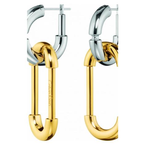 Ladies Calvin Klein Two-tone steel/gold plate Airy Earrings KJ7HJE200100