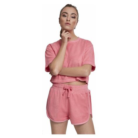 T-Shirt Urban Classics Short Towel/TB2628 - Pink/Grapefruit - women´s
