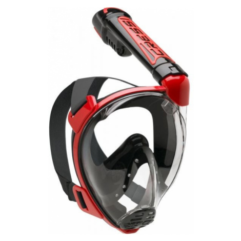 Red equipment for swimming and diving
