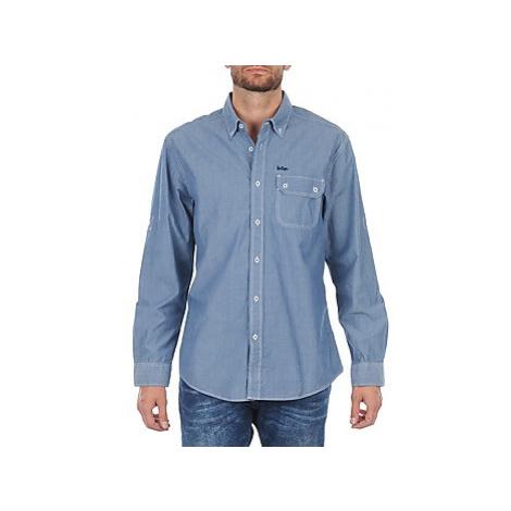 Lee Cooper Greyven men's Long sleeved Shirt in Blue
