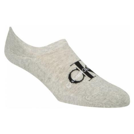 Calvin Klein RETRO LOGO LINER beige - Men's socks