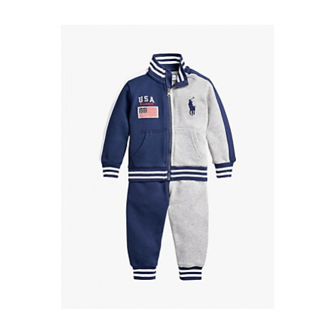 Polo Ralph Lauren Baby Panel Sweatshirt and Joggers Set, Newport Navy