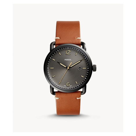 Fossil Men's The Commuter Three-Hand Date Luggage Leather Watch