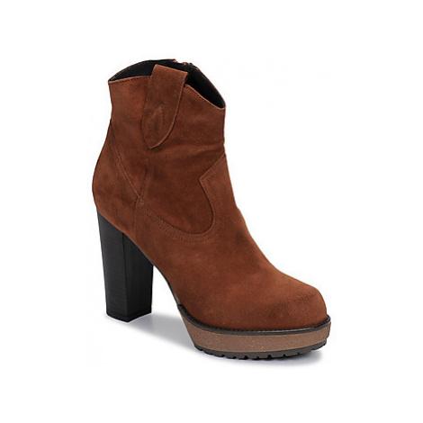 Sweet Lemon SAINO women's Low Ankle Boots in Brown