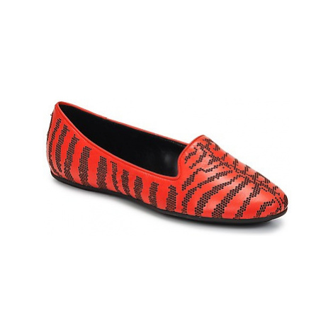 Roberto Cavalli TPS648 women's Loafers / Casual Shoes in Red