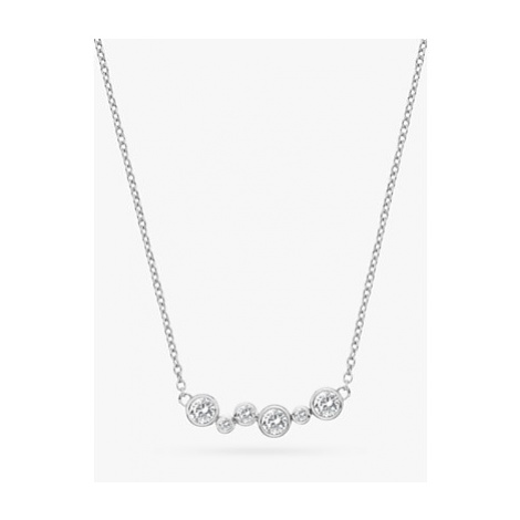 Hot Diamonds Tender Topaz and Diamond Chain Necklace, Silver