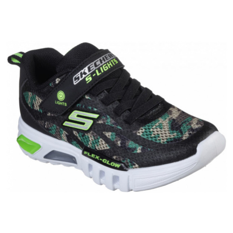 Skechers S-LIGHTS FLEX-GLOW black - Boy's flashing sneakers
