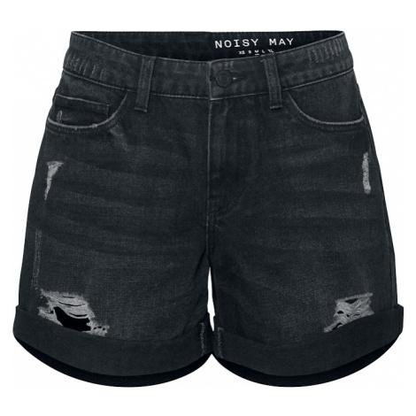 Noisy May - Smiley Destroy Shorts - Girls shorts - black