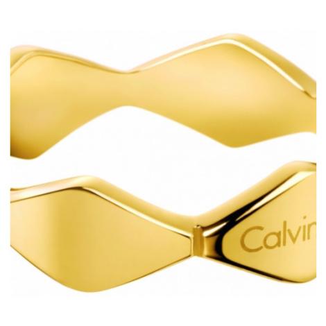 Ladies Calvin Klein PVD Gold plated Size L Snake Ring KJ5DJR100106