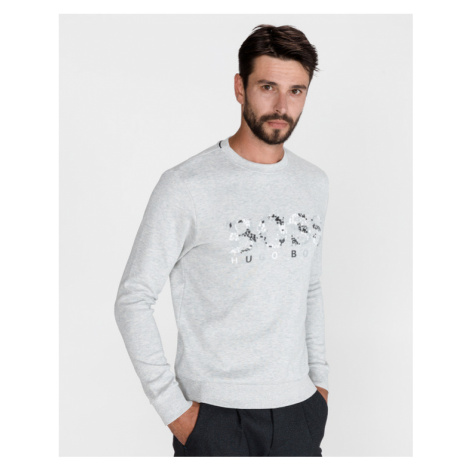 BOSS Salbo Iconic Sweatshirt Grey Hugo Boss