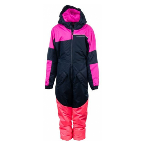 ALPINE PRO BASTO pink - Children's winter overall