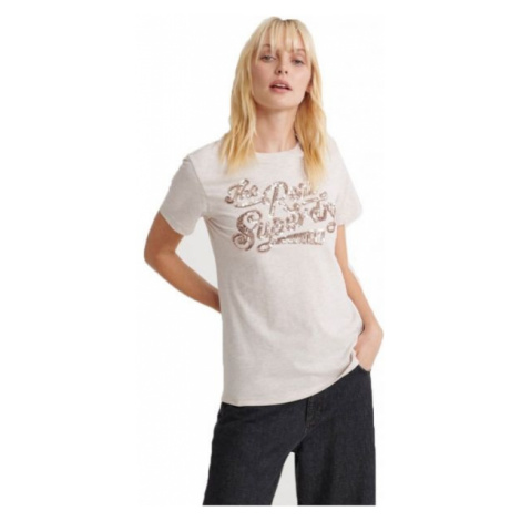 Superdry THE REAL TONAL SEQUIN ENTRY TEE grey - Women's T-shirt