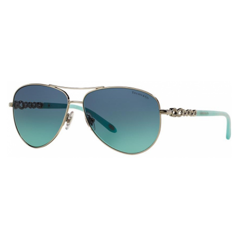Tiffany Co Woman TF3049B Tiffany Infinity - Frame color: Silver, Lens color: Blue, Size 58-12/14