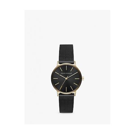 Armani Exchange AX5548 Women's Mesh Bracelet Strap Watch, Black