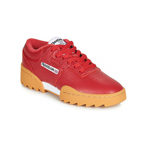 Reebok Classic WORKOUT RIPPLE OG women's Shoes (Trainers) in Red