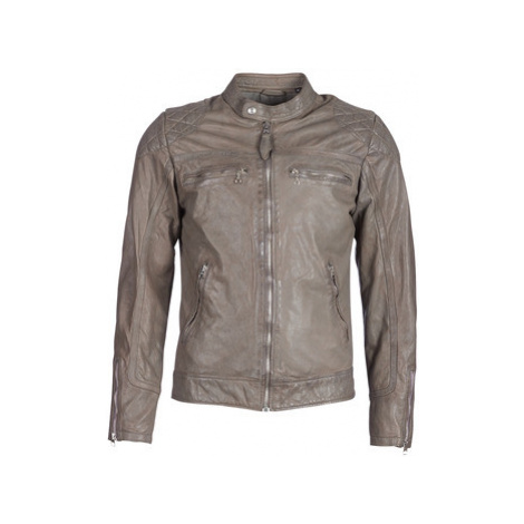 Schott SPYDER men's Leather jacket in Grey Schott NYC