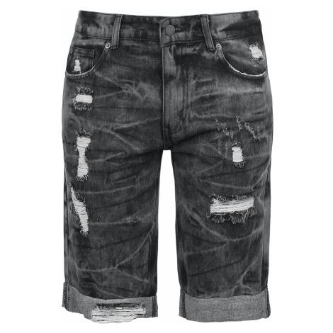 Fashion Victim - Destroyed Washed Shorts - Girls shorts - black