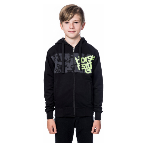 sweatshirt Horsefeathers Rounder Zip - Black - boy´s