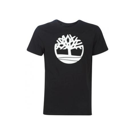 Timberland SS Brand Reg Tee BLACK men's T shirt in Black