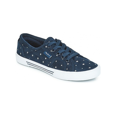 Pepe jeans Aberlady women's Shoes (Trainers) in Blue