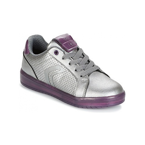 Geox J KOMMODOR G.A girls's Children's Shoes (Trainers) in Silver