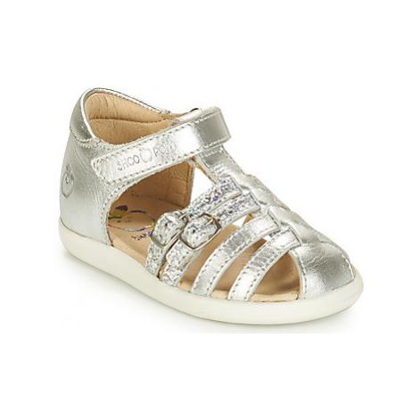 Shoo Pom PIKA SPART LAMINATO girls's Children's Sandals in Silver