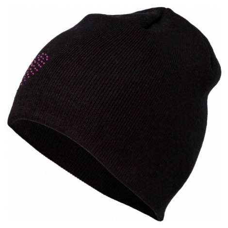 Lewro BEEDRIL black - Girls' knitted hat