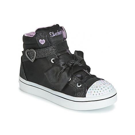 Skechers TWI-LITESB-BOW BEAUTIFUL girls's Children's Basketball Trainers (Shoes) in Black