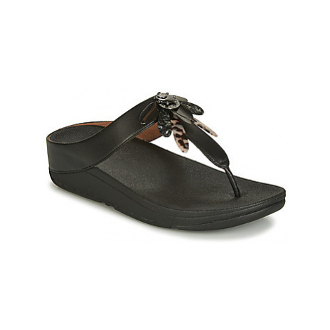 FitFlop CONGA DRAGONFLY women's Flip flops / Sandals (Shoes) in Black