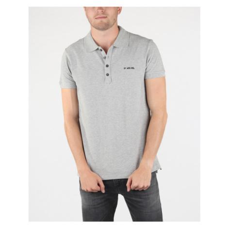 Diesel T-Heal-Broken Polo shirt Grey