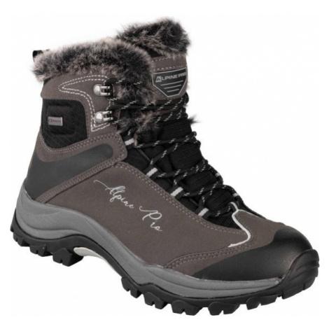 ALPINE PRO BANOFFE brown - Women's winter shoes
