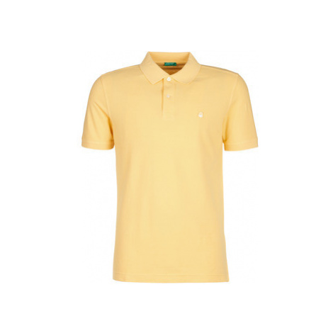 Benetton MADALO men's Polo shirt in Yellow United Colors of Benetton