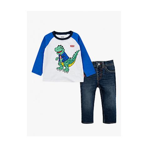 Levi's Baby Dinosaur Cotton Jersey Top and Jeans Set, Blue Levi´s