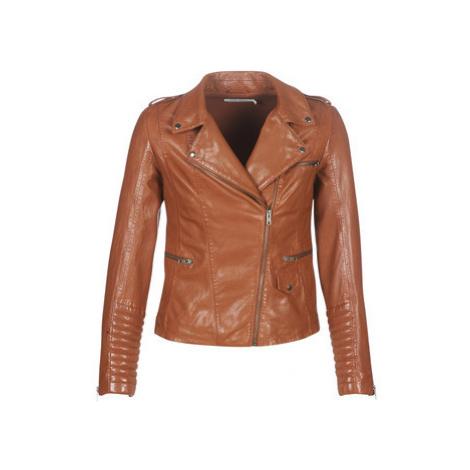 Naf Naf CUBA women's Leather jacket in Brown