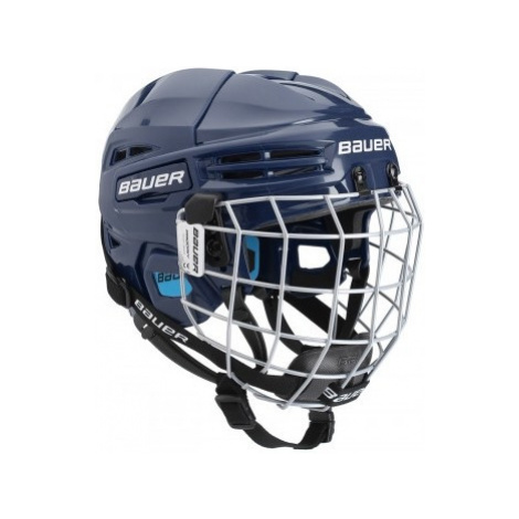 Bauer PRODIGY COMBO YTH dark blue - Kids' helmet with a facemask