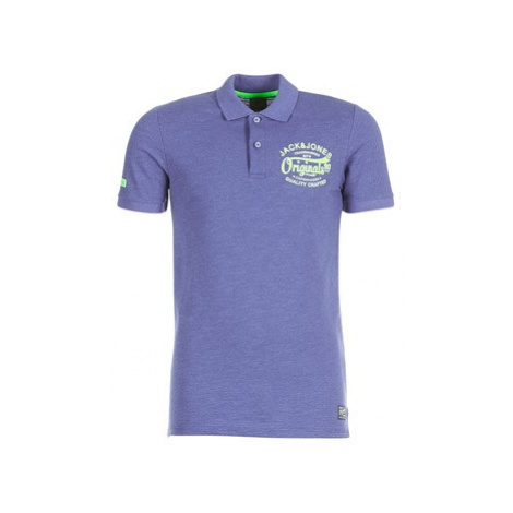 Jack Jones JORSOLIDUDE men's Polo shirt in Blue Jack & Jones