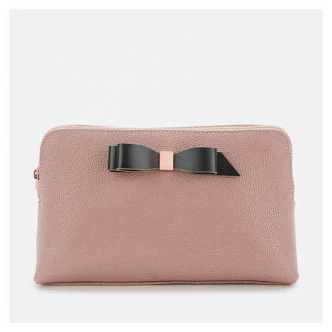 Ted Baker Women's Elois Bow Leather Washbag - Taupe