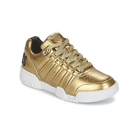 K-Swiss GSTAAD women's Shoes (Trainers) in Gold