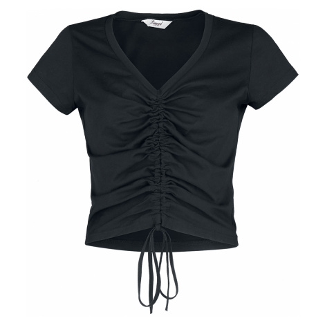 Banned Retro - 90s Look Scrunch Up Top - Girls shirt - black