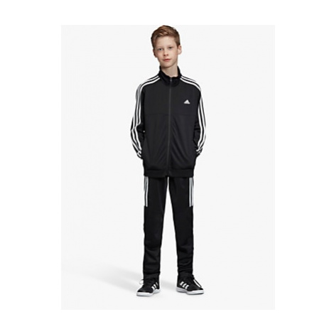 Adidas Boys' Side Stripe Tracksuit, Black