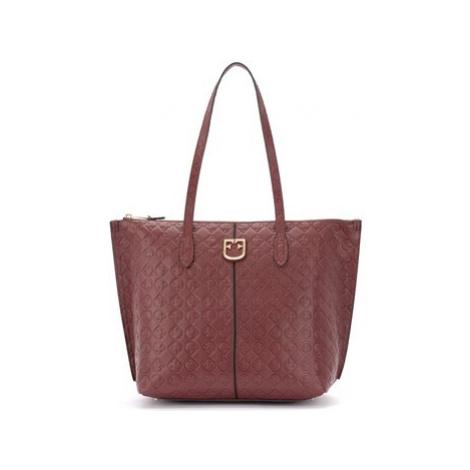 Furla Luce shoulder bag made of textured red leather women's Shoulder Bag in Red