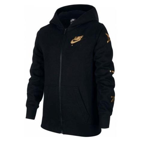 Nike NSW NIKE AIR FLC FZ black - Girls' hoodie