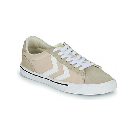 Hummel NILE CANVAS LOW women's Shoes (Trainers) in Beige