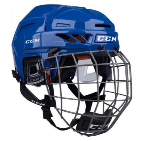 CCM FITLITE 90 COMBO SR dark blue - Hockey helmet