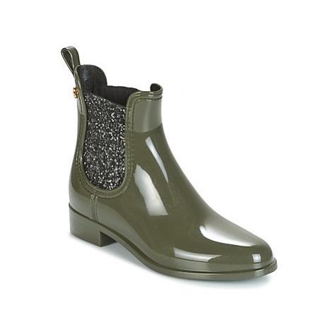 Green women's chelsea boots
