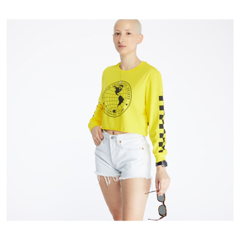 Vans x National Geographic Long Sleeve Cropped Tee Cyber Yellow