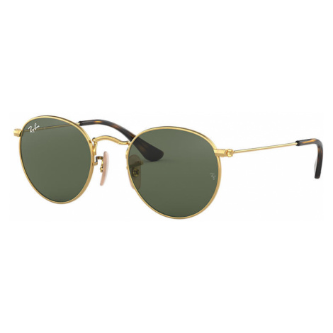 Ray Ban Round metal junior Unisex Sunglasses Lenses: Green, Frame: Gold - RJ9547S 223/71 44-19