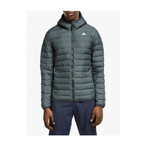 Adidas Varilite Down Men's Hooded Jacket, Carbon