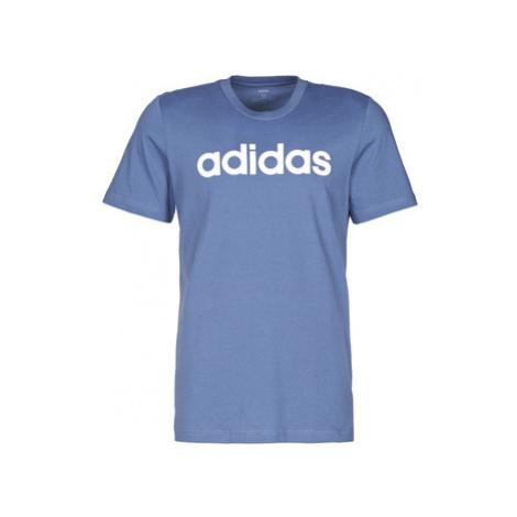 Adidas E LIN TEE men's T shirt in Blue